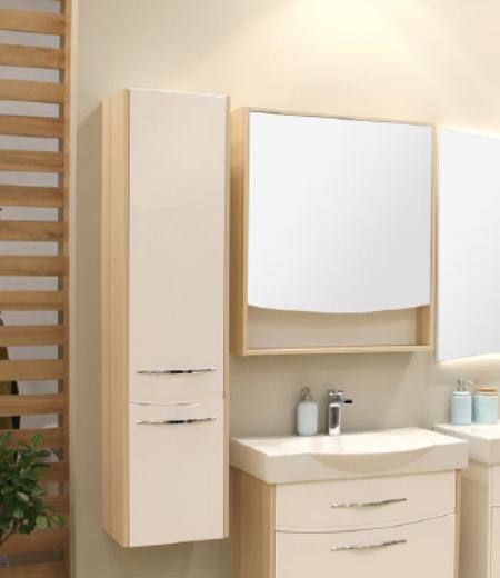Инфинити ясень коимбра левыйМебель для ванной<br>Шкаф-колонна для ванной комнаты Акватон Инфинити левосторонний с системой плавного закрывания дверей. Мебель украшают изящные ручки бельгийского производителя Metakor.<br>