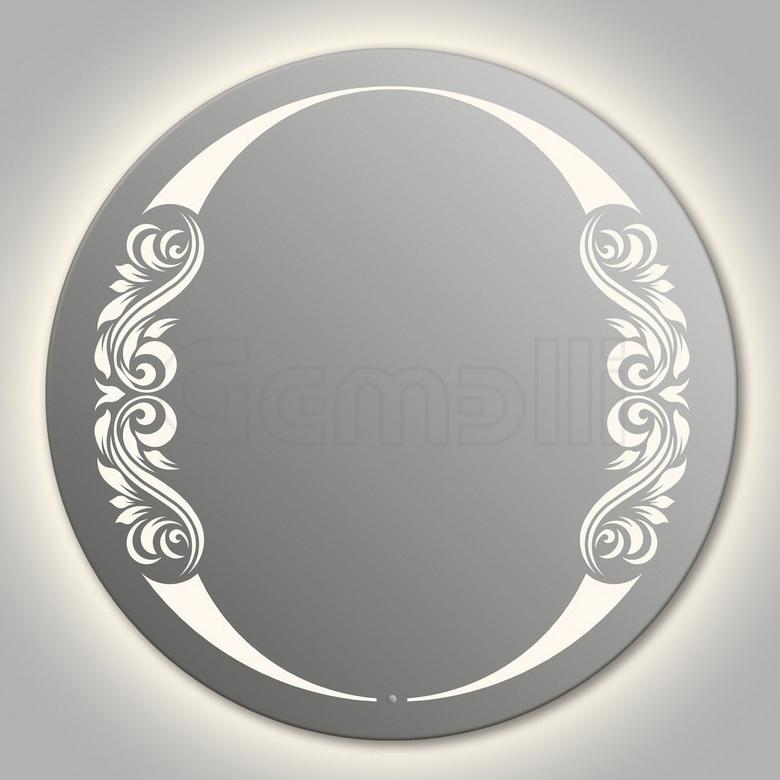 Design D-beauty 2V Contour 90 смМебель для ванной<br>Зеркало круглой формы из модельного ряда Design с контурной и фронтальной LED-подсветкой. Толщина зеркала 5-6 мм с превосходным качеством отражения. Оригинальное сочетание формы зеркала и подсветки. Регулируемое крепление зеркала к стене. Выключатель сенсорный Touchtronic (включение касанием) внизу на лицевой панели зеркала. Диаметр зеркала - 90 см, глубина (с учетом монтажного крепления и корпуса) - 4 см.<br>