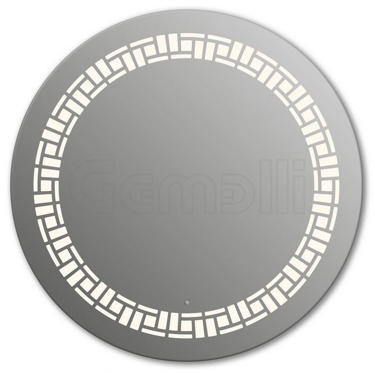 Design D-mosaic 105 смМебель для ванной<br>Зеркало круглой формы из модельного ряда Design с фронтальной LED-подсветкой. Толщина зеркала 5-6 мм с превосходным качеством отражения. Оригинальное сочетание формы зеркала и подсветки. Регулируемое крепление зеркала к стене. Выключатель сенсорный Touchtronic (включение касанием) внизу на лицевой панели зеркала. Диаметр зеркала - 105 см, глубина (с учетом монтажного крепления и корпуса) - 4 см.<br>