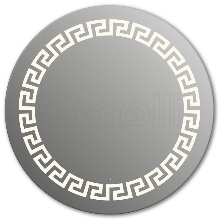 Design D-creta 90 смМебель для ванной<br>Зеркало круглой формы из модельного ряда Design с фронтальной LED-подсветкой. Толщина зеркала 5-6 мм с превосходным качеством отражения. Оригинальное сочетание формы зеркала и подсветки. Регулируемое крепление зеркала к стене. Выключатель сенсорный Touchtronic (включение касанием) внизу на лицевой панели зеркала. Диаметр зеркала - 90 см, глубина (с учетом монтажного крепления и корпуса) - 4 см.<br>