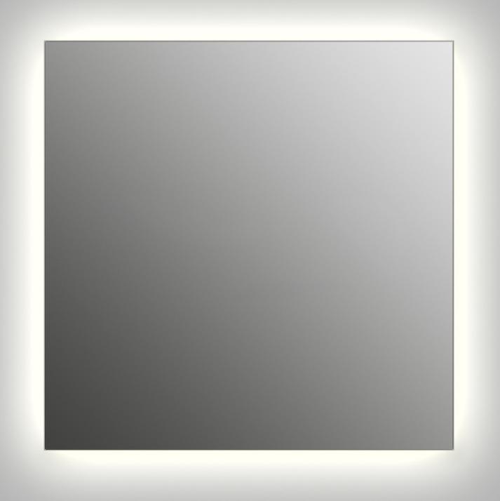 Design Q-contour H750 75x75 смМебель для ванной<br>Зеркало квадратной формы из модельного ряда Design с контурной подсветкой. Высота зеркала - 75 см, глубина (с учетом монтажного крепления и корпуса) - 4 см, ширина - 75 см.<br>