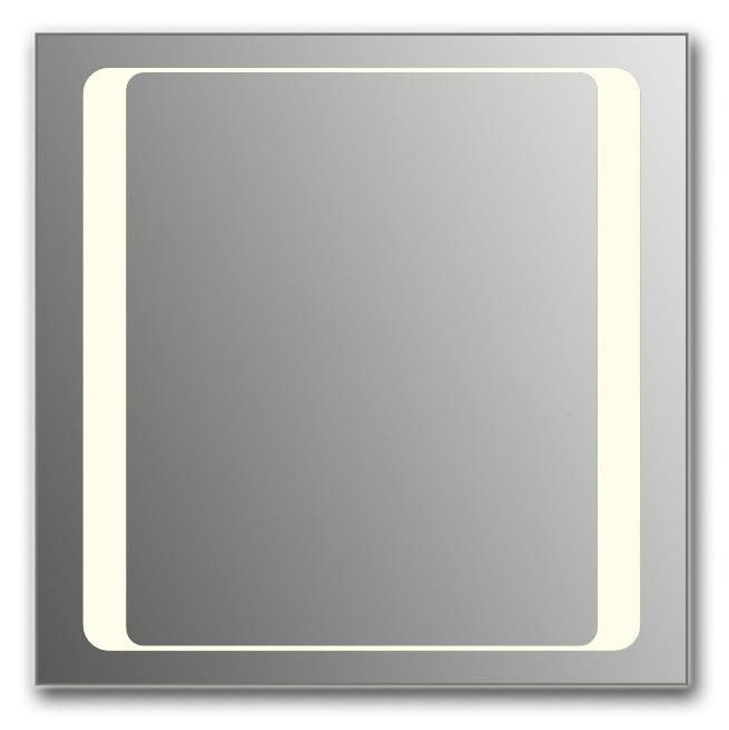 Design Q-unix HS H750 75x105 смМебель для ванной<br>Зеркало прямоугольной формы из модельного ряда Design с фронтальной подсветкой. Высота зеркала - 75 см, глубина (с учетом монтажного крепления и корпуса) - 4 см, ширина - 105 см.<br>