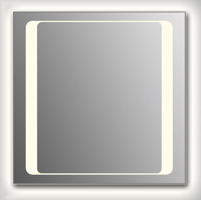 Design Q-unix HS Contour H750 75x75 смМебель для ванной<br>Зеркало квадратной формы из модельного ряда Design с фронтальной и контурной подсветкой. Высота зеркала - 75 см, глубина (с учетом монтажного крепления и корпуса) - 4 см, ширина - 75 см.<br>