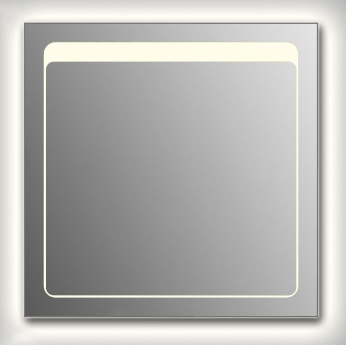 Design Q-unix Top Contour H750 75x75 смМебель для ванной<br>Зеркало квадратной формы из модельного ряда Design с контурной и фронтальной подсветкой. Высота зеркала - 75 см, глубина (с учетом монтажного крепления и корпуса) - 4 см, ширина - 75 см.<br>
