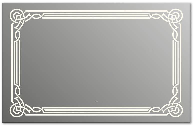 Design Q-orient H800 80x125 смМебель для ванной<br>Зеркало прямоугольной формы из модельного ряда Design с фронтальной подсветкой. Высота зеркала - 80 см, глубина (с учетом монтажного крепления и корпуса) - 4 см, ширина - 125 см.<br>