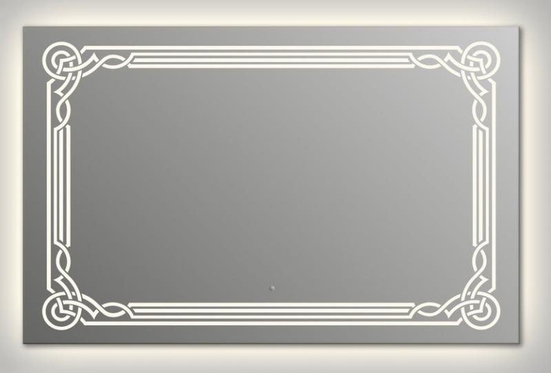 Design Q-orient Contour H750 75x90 смМебель для ванной<br>Зеркало прямоугольной формы из модельного ряда Design с контурной и фронтальной подсветкой. Высота зеркала - 75 см, глубина (с учетом монтажного крепления и корпуса) - 4 см, ширина - 90 см.<br>