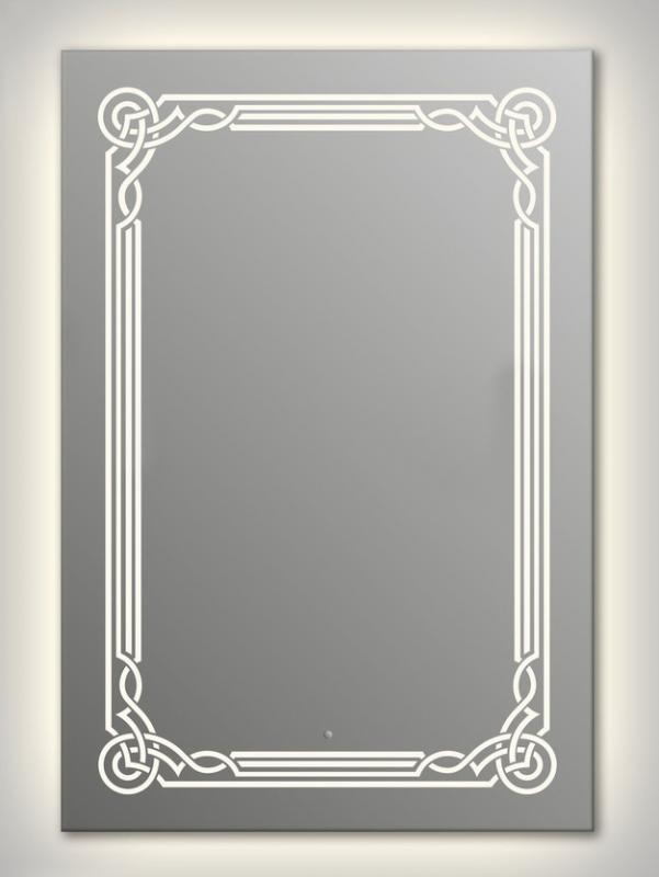 Design Q-orient Contour H1000 100x75 смМебель для ванной<br>Зеркало прямоугольной формы из модельного ряда Design с контурной и фронтальной подсветкой. Высота зеркала - 100 см, глубина (с учетом монтажного крепления и корпуса) - 4 см, ширина - 75 см.<br>