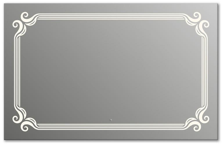 Design Q-de Paris H800 80x125 смМебель для ванной<br>Зеркало прямоугольной формы из модельного ряда Design с фронтальной подсветкой. Высота зеркала - 80 см, глубина (с учетом монтажного крепления и корпуса) - 4 см, ширина - 125 см.<br>