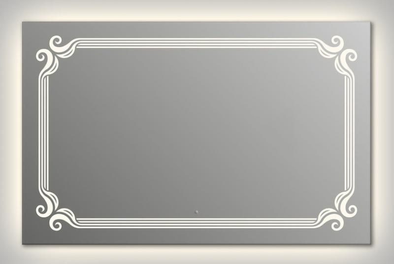 Design Q-de Paris Contour H750 75x90 смМебель для ванной<br>Зеркало прямоугольной формы из модельного ряда Design с контурной и фронтальной подсветкой. Высота зеркала - 75 см, глубина (с учетом монтажного крепления и корпуса) - 4 см, ширина - 90 см.<br>