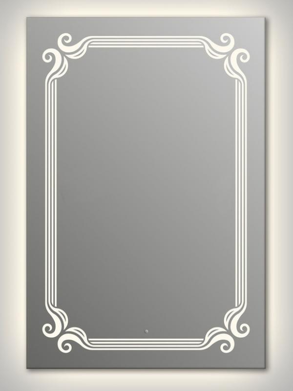 Design Q-de Paris Contour H1000 100x75 смМебель для ванной<br>Зеркало прямоугольной формы из модельного ряда Design с контурной и фронтальной подсветкой. Высота зеркала - 100 см, глубина (с учетом монтажного крепления и корпуса) - 4 см, ширина - 75 см.<br>