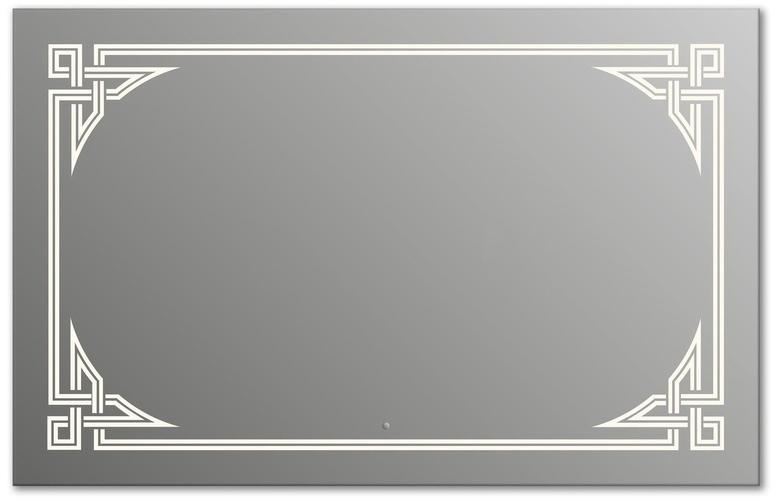 Design Q-gotic H750 75x90 смМебель для ванной<br>Зеркало прямоугольной формы из модельного ряда Design с фронтальной подсветкой. Высота зеркала - 75 см, глубина (с учетом монтажного крепления и корпуса) - 4 см, ширина - 90 см.<br>