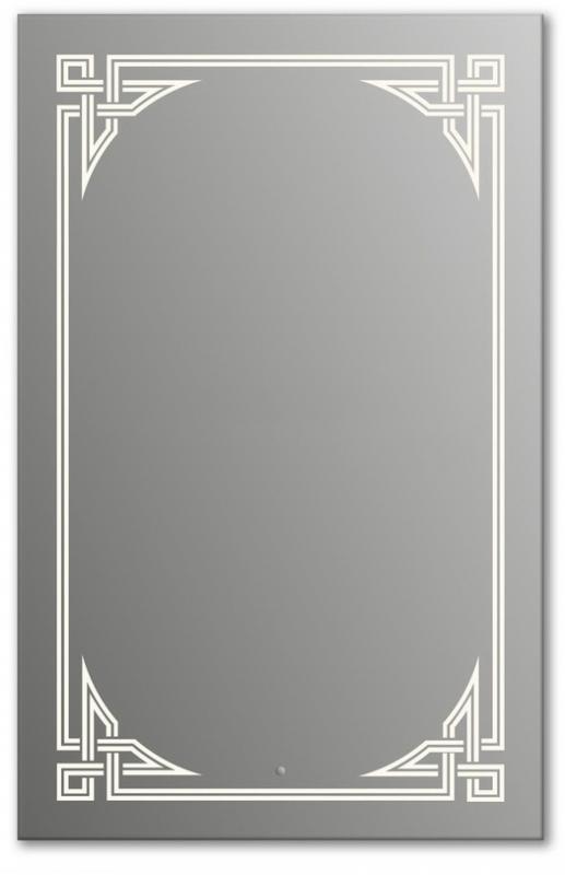 Design Q-gotic H1000 100x75 смМебель для ванной<br>Зеркало прямоугольной формы из модельного ряда Design с фронтальной подсветкой. Высота зеркала - 100 см, глубина (с учетом монтажного крепления и корпуса) - 4 см, ширина - 75 см.<br>