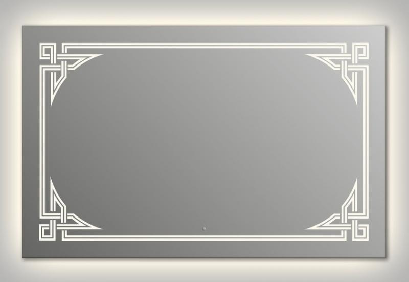 Design Q-gotic Contour H800 80x125 смМебель для ванной<br>Зеркало прямоугольной формы из модельного ряда Design с контурной и фронтальной подсветкой. Высота зеркала - 80 см, глубина (с учетом монтажного крепления и корпуса) - 4 см, ширина - 125 см.<br>
