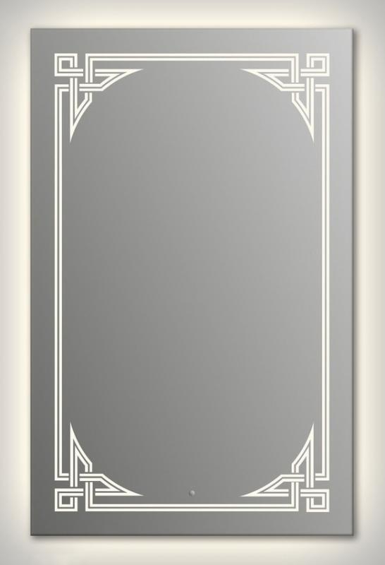 Design Q-gotic Contour H1000 100x75 смМебель для ванной<br>Зеркало прямоугольной формы из модельного ряда Design с контурной и фронтальной подсветкой. Высота зеркала - 100 см, глубина (с учетом монтажного крепления и корпуса) - 4 см, ширина - 75 см.<br>