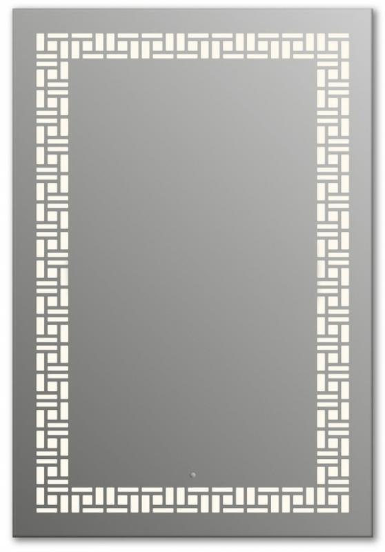 Design Q-mosaic H1000 100x75 смМебель для ванной<br>Зеркало прямоугольной формы из модельного ряда Design с фронтальной подсветкой. Высота зеркала - 100 см, глубина (с учетом монтажного крепления и корпуса) - 4 см, ширина - 75 см.<br>