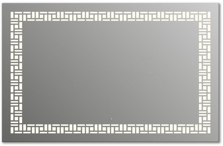 Design Q-mosaic H750 75x105 смМебель для ванной<br>Зеркало прямоугольной формы из модельного ряда Design с фронтальной подсветкой. Высота зеркала - 75 см, глубина (с учетом монтажного крепления и корпуса) - 4 см, ширина - 105 см.<br>