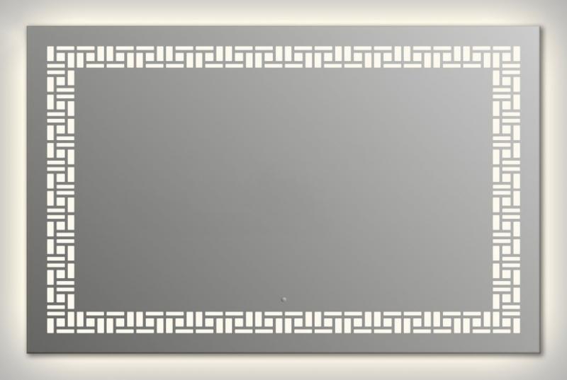 Design Q-mosaic Contour H750 75x105 смМебель для ванной<br>Зеркало прямоугольной формы из модельного ряда Design с контурной и фронтальной подсветкой. Высота зеркала - 75 см, глубина (с учетом монтажного крепления и корпуса) - 4 см, ширина - 105 см.<br>