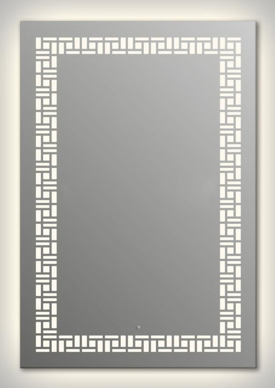 Design Q-mosaic Contour H1000 100x75 смМебель для ванной<br>Зеркало прямоугольной формы из модельного ряда Design с контурной и фронтальной подсветкой. Высота зеркала - 100 см, глубина (с учетом монтажного крепления и корпуса) - 4 см, ширина - 75 см.<br>