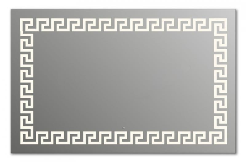 Design Q-creta H750 75x105 смМебель для ванной<br>Зеркало прямоугольной формы из модельного ряда Design с фронтальной подсветкой. Высота зеркала - 75 см, глубина (с учетом монтажного крепления и корпуса) - 4 см, ширина - 105 см.<br>
