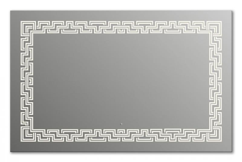 Design Q-zeus H750 75x105 смМебель для ванной<br>Зеркало прямоугольной формы из модельного ряда Design с фронтальной подсветкой. Высота зеркала - 75 см, глубина (с учетом монтажного крепления и корпуса) - 4 см, ширина - 105 см.<br>