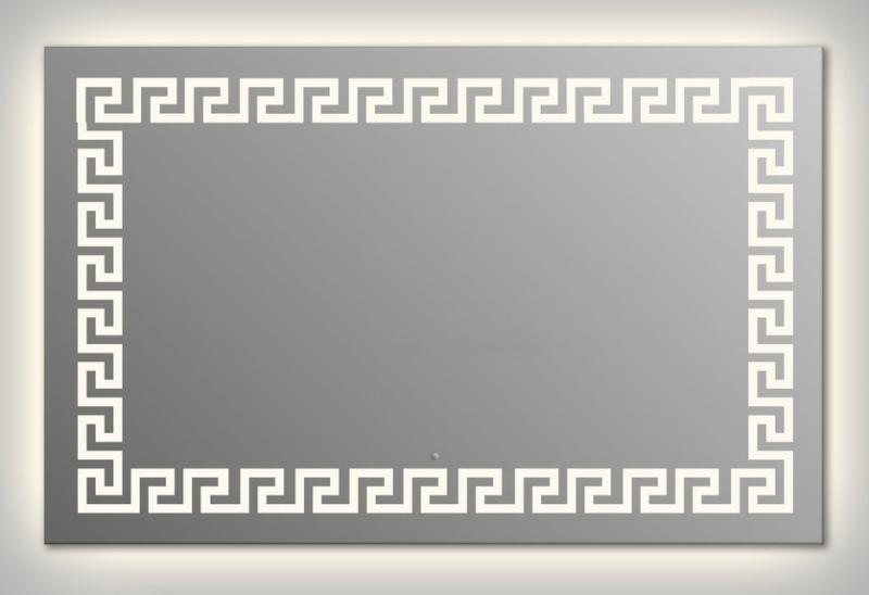 Design Q-creta Contour H750 75x90 смМебель для ванной<br>Зеркало прямоугольной формы из модельного ряда Design с контурной и фронтальной подсветкой. Высота зеркала - 75 см, глубина (с учетом монтажного крепления и корпуса) - 4 см, ширина - 90 см.<br>