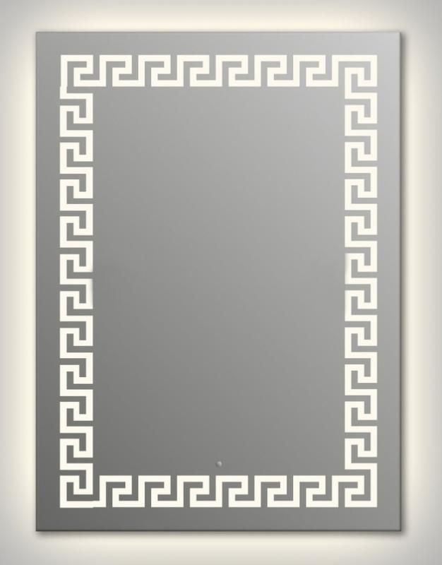Design Q-creta Contour H1000 100x75 смМебель для ванной<br>Зеркало прямоугольной формы из модельного ряда Design с контурной и фронтальной подсветкой. Высота зеркала - 100 см, глубина (с учетом монтажного крепления и корпуса) - 4 см, ширина - 75 см.<br>