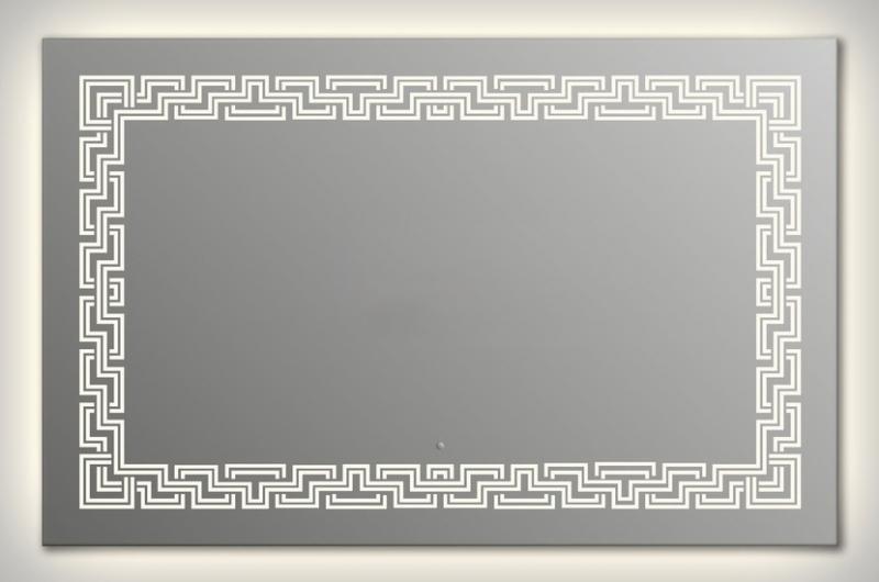 Design Q-zeus Contour H750 75x105 смМебель для ванной<br>Зеркало квадратной формы из модельного ряда Design с контурной и фронтальной подсветкой. Высота зеркала - 75 см, глубина (с учетом монтажного крепления и корпуса) - 4 см, ширина - 105 см.<br>