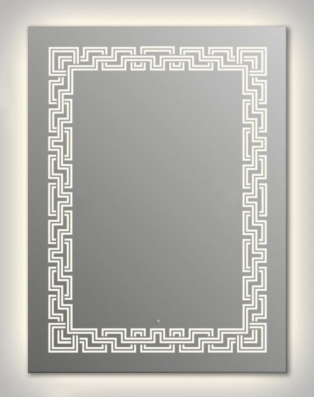 Design Q-zeus Contour H1000 100x75 смМебель для ванной<br>Зеркало прямоугольной формы из модельного ряда Design с контурной и фронтальной подсветкой. Высота зеркала - 100 см, глубина (с учетом монтажного крепления и корпуса) - 4 см, ширина - 75 см.<br>
