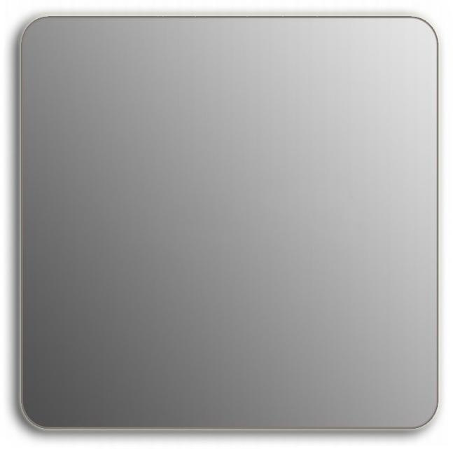 Design QR-silver H750 75x110 смМебель для ванной<br>Зеркало прямоугольной формы со скругленными углами из модельного ряда Design без подсветки. Высота зеркала - 75 см, глубина (с учетом монтажного крепления и корпуса) - 4 см, ширина - 110 см.<br>