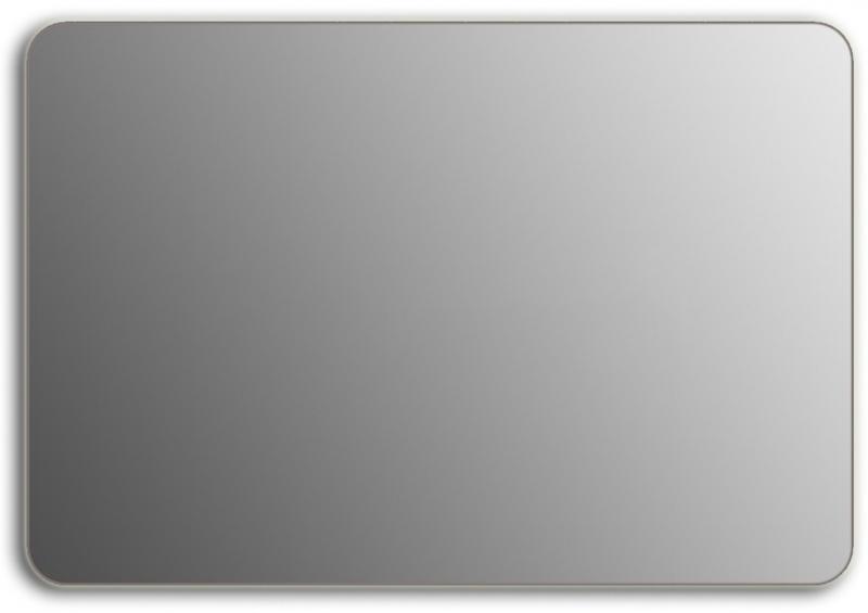 Design QR-silver H800 80x130 смМебель для ванной<br>Зеркало прямоугольной формы со скругленными углами из модельного ряда Design без подсветки. Высота зеркала - 80 см, глубина (с учетом монтажного крепления и корпуса) - 4 см, ширина - 130 см.<br>