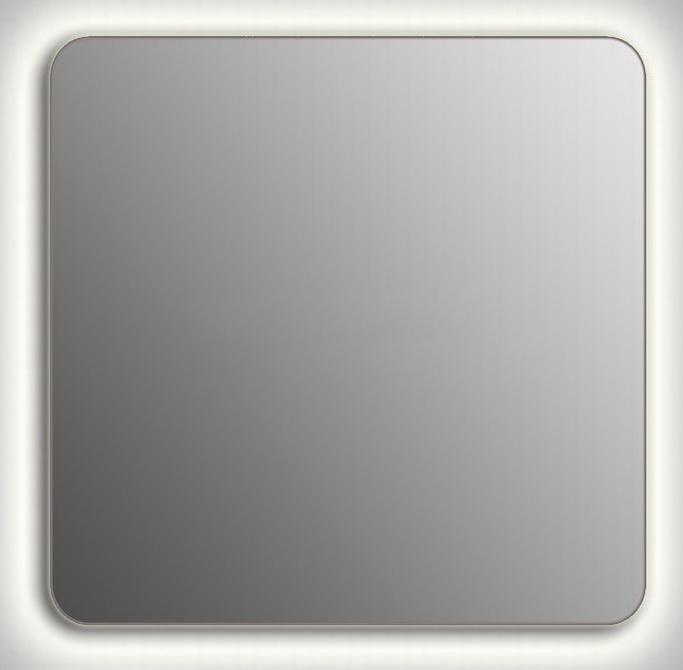 Design QR-contour H750 75x100 смМебель для ванной<br>Зеркало прямоугольной формы со скругленными углами из модельного ряда Design с контурной Led-подсветкой. Высота зеркала - 75 см, глубина (с учетом монтажного крепления и корпуса) - 4 см, ширина - 100 см.<br>