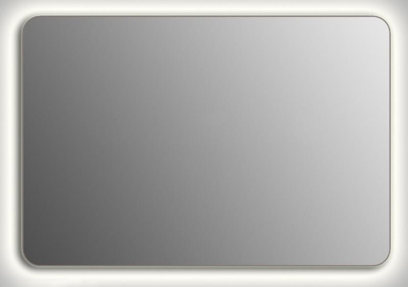 Design QR-contour H800 80x130 смМебель для ванной<br>Зеркало прямоугольной формы со скругленными углами из модельного ряда Design с контурной Led-подсветкой. Высота зеркала - 80 см, глубина (с учетом монтажного крепления и корпуса) - 4 см, ширина - 130 см.<br>