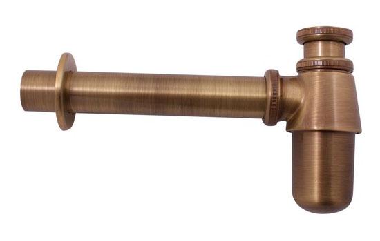 MD0545SM БронзаКомплектующие<br>Сифон для раковины Rav Slezak MD0545SM. Гайка для подключения слива раковины 5/4. Водосточная труба диаметром 32 мм. Цвет бронза.<br>