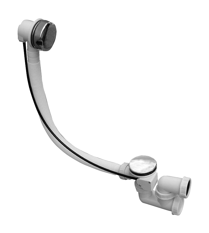 MD0471/80 БелыйКомплектующие<br>Слив-сифон для ванны Rav Slezak MD0471/80. Длина 800 мм. Цвет белый.<br>