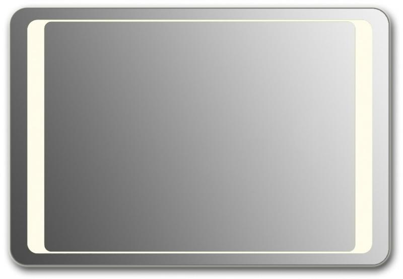 Design QR-unix HS H800 80x130 смМебель для ванной<br>Зеркало прямоугольной формы со скругленными углами из модельного ряда Design с фронтальной Led-подсветкой. Высота зеркала - 80 см, глубина (с учетом монтажного крепления и корпуса) - 4 см, ширина - 130 см.<br>