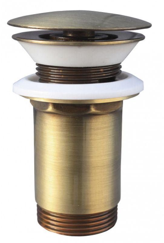 """MD0484SM БронзаКомплектующие<br>Донный клапан Rav Slezak MD0484SM для раковины. С системой click-clack 5/4"""" высокий, большая крышка. Цвет бронза.<br>"""