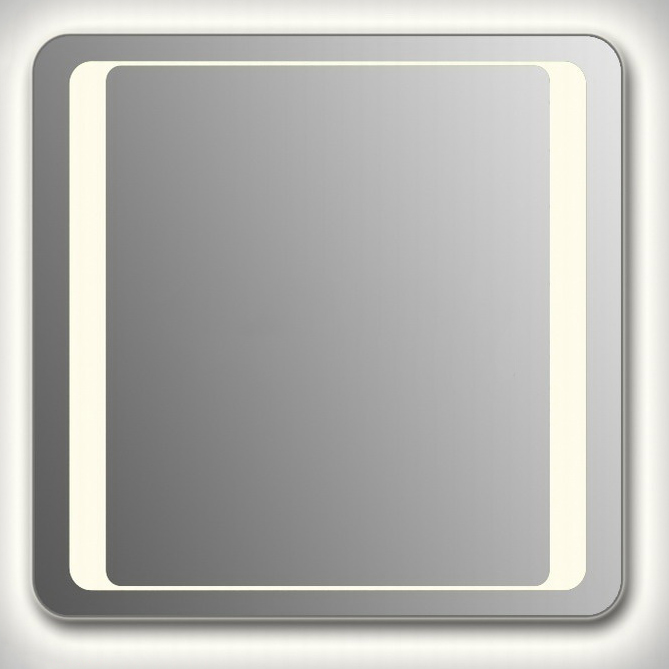 Design QR-unix HS Сontour H750 75x80 смМебель для ванной<br>Зеркало прямоугольной формы со скругленными углами из модельного ряда Design с контурной и фронтальной Led-подсветкой. Высота зеркала - 75 см, глубина (с учетом монтажного крепления и корпуса) - 4 см, ширина - 80 см.<br>
