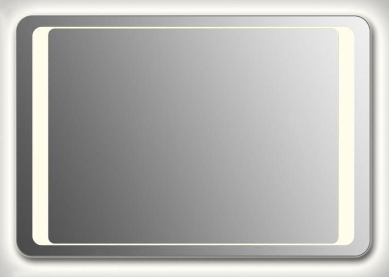 Design QR-unix HS Сontour H800 80x130 смМебель для ванной<br>Зеркало прямоугольной формы со скругленными углами из модельного ряда Design с контурной и фронтальной Led-подсветкой. Высота зеркала - 80 см, глубина (с учетом монтажного крепления и корпуса) - 4 см, ширина - 130 см.<br>
