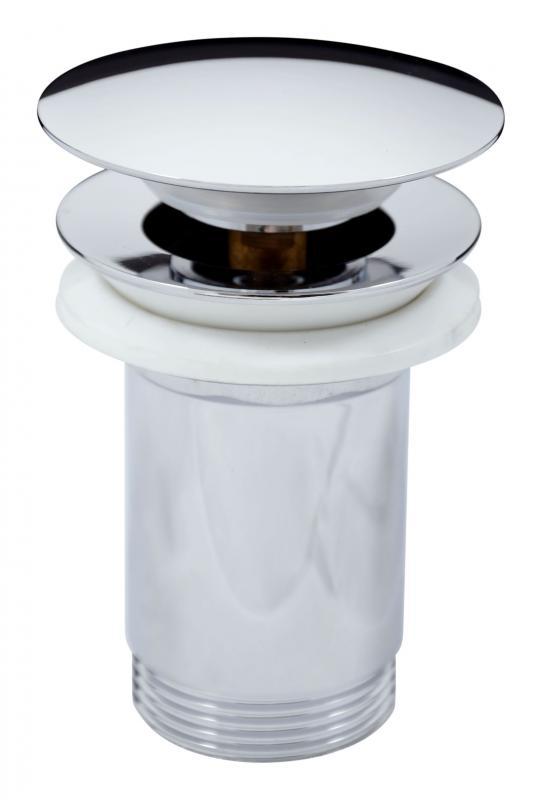 """MD0484 ХромКомплектующие<br>Донный клапан Rav Slezak MD0484 для раковины. С системой click-clack 5/4"""" высокий, большая крышка. Цвет хром.<br>"""