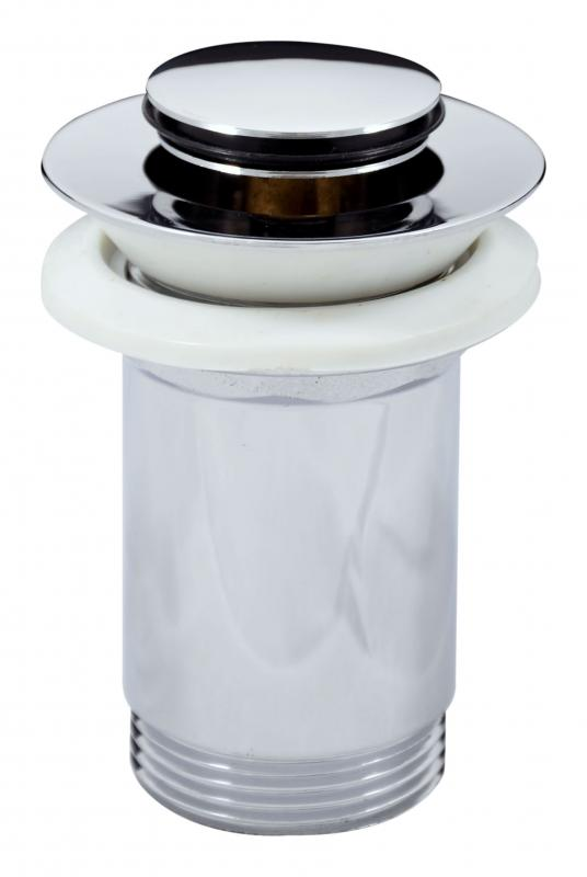 MD0483 ХромКомплектующие<br>Донный клапан Rav Slezak MD0483 для раковины. С системой click-clack 5/4 высокий, маленькая крышка. Цвет хром.<br>