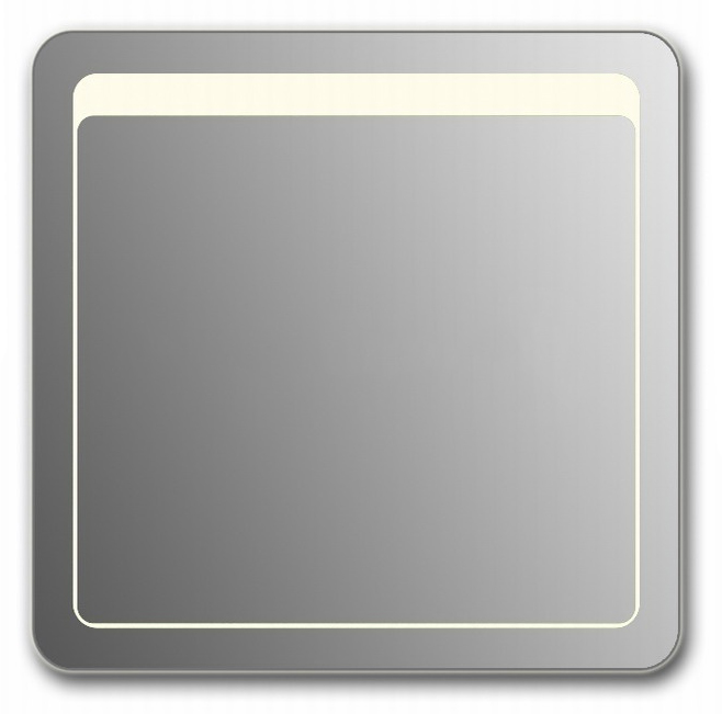 Design QR-unix Top H750 75x110 смМебель для ванной<br>Зеркало прямоугольной формы со скругленными углами из модельного ряда Design c фронтальной Led-подсветкой. Высота зеркала - 75 см, глубина (с учетом монтажного крепления и корпуса) - 4 см, ширина - 110 см.<br>