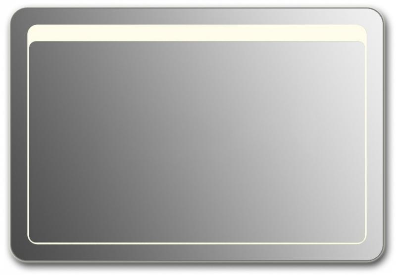 Design QR-unix Top H800 80x130 смМебель для ванной<br>Зеркало прямоугольной формы со скругленными углами из модельного ряда Design с фронтальной Led-подсветкой. Высота зеркала - 80 см, глубина (с учетом монтажного крепления и корпуса) - 4 см, ширина - 130 см.<br>