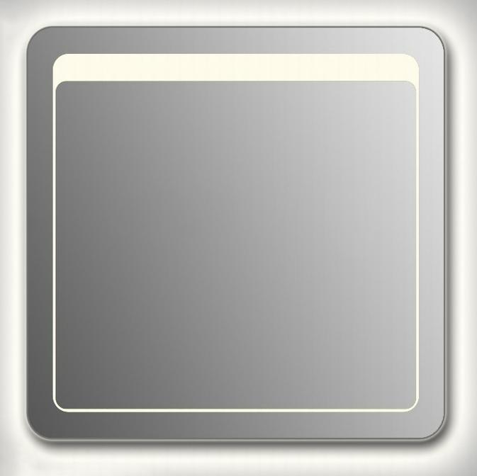 Design QR-unix Top Contour H750 75x90 смМебель для ванной<br>Зеркало прямоугольной формы со скругленными углами из модельного ряда Design c контурной и фронтальной Led-подсветкой. Высота зеркала - 75 см, глубина (с учетом монтажного крепления и корпуса) - 4 см, ширина - 90 см.<br>