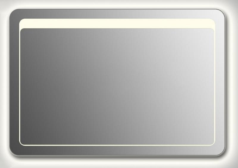 Design QR-unix Top Contour H800 80x130 смМебель для ванной<br>Зеркало прямоугольной формы со скругленными углами из модельного ряда Design с контурной и фронтальной Led-подсветкой. Высота зеркала - 80 см, глубина (с учетом монтажного крепления и корпуса) - 4 см, ширина - 130 см.<br>