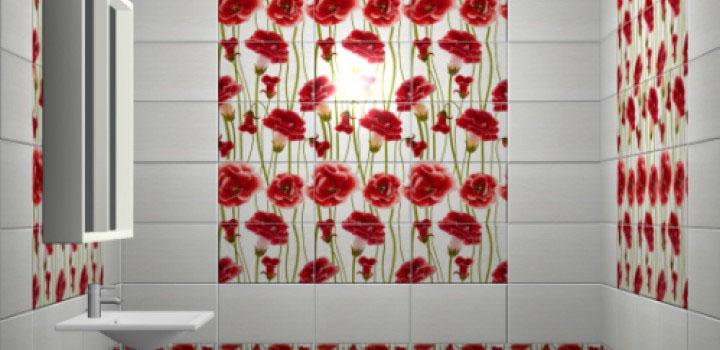 Керамическая плитка М-Квадрат Fiori белая 25х40 настенная