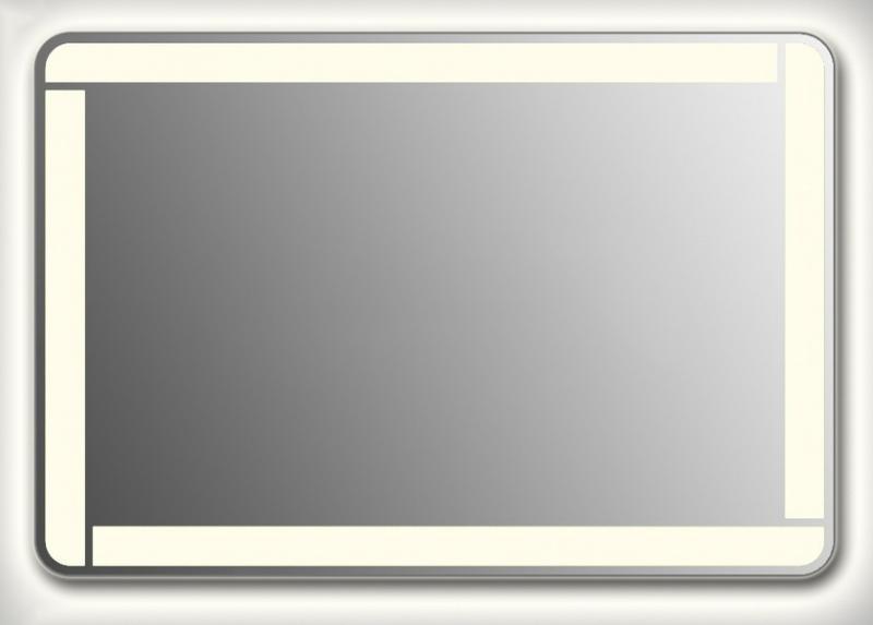 Design QR-unix Line Contour H800 80x145 смМебель для ванной<br>Зеркало прямоугольной формы со скругленными углами из модельного ряда Design с контурной и фронтальной Led-подсветкой. Высота зеркала - 80 см, глубина (с учетом монтажного крепления и корпуса) - 4 см, ширина - 145 см.<br>