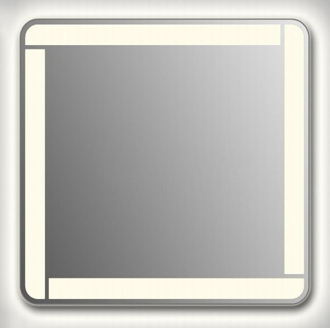 Design QR-unix Line Contour H750 75x80 смМебель для ванной<br>Зеркало прямоугольной формы со скругленными углами из модельного ряда Design c контурной и фронтальной Led-подсветкой. Высота зеркала - 75 см, глубина (с учетом монтажного крепления и корпуса) - 4 см, ширина - 80 см.<br>