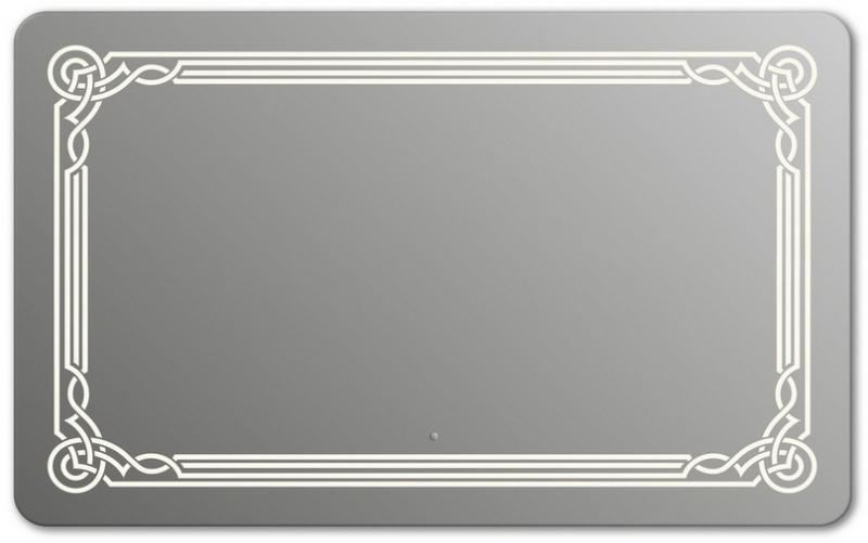 Design QR-orient H750 75x100 смМебель для ванной<br>Зеркало прямоугольной формы со скругленными углами из модельного ряда Design c фронтальной Led-подсветкой. Высота зеркала - 75 см, глубина (с учетом монтажного крепления и корпуса) - 4 см, ширина - 100 см.<br>