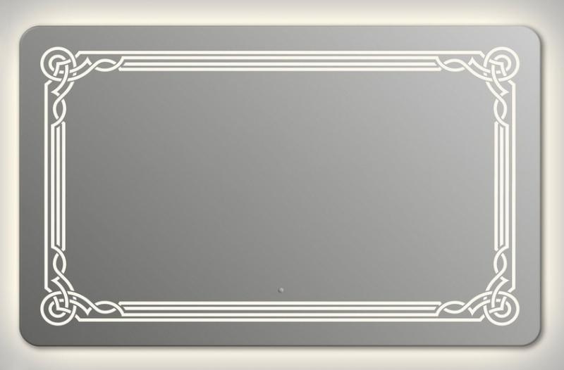 Design QR-orient Contour H750 75x90 смМебель для ванной<br>Зеркало прямоугольной формы со скругленными углами из модельного ряда Design c контурной и фронтальной Led-подсветкой. Высота зеркала - 75 см, глубина (с учетом монтажного крепления и корпуса) - 4 см, ширина - 90 см.<br>