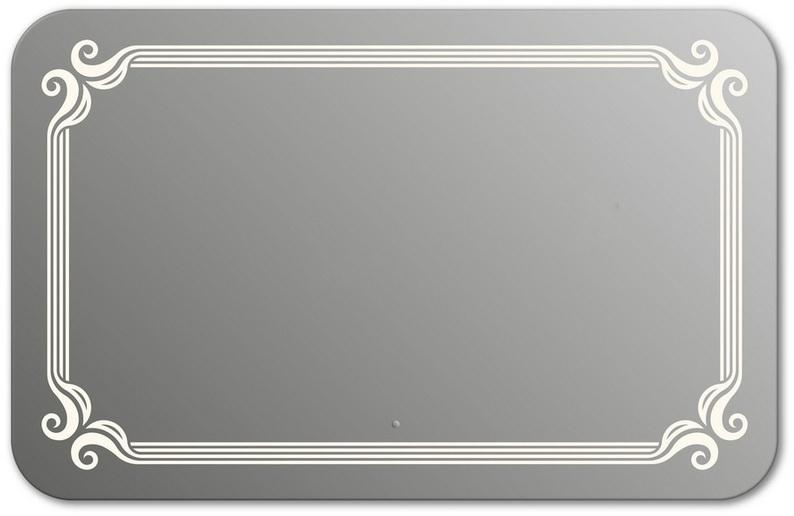 Design QR De Paris H750 75x100 смМебель для ванной<br>Зеркало прямоугольной формы со скругленными углами из модельного ряда Design c фронтальной Led-подсветкой. Высота зеркала - 75 см, глубина (с учетом монтажного крепления и корпуса) - 4 см, ширина - 100 см.<br>